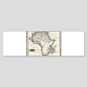 1799 Antique Map Bumper Sticker