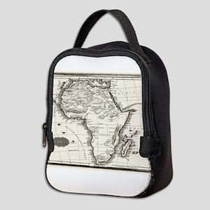 1799 Antique Map Neoprene Lunch Bag