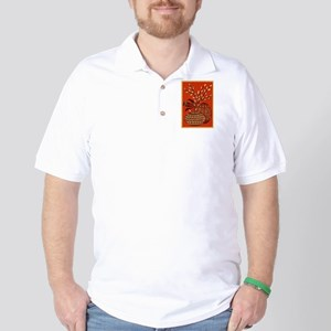 Vintage Russian Easter Card Golf Shirt