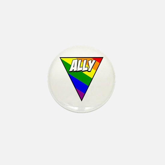 Proud Ally Rainbow And Triangle Graphic By Brian F
