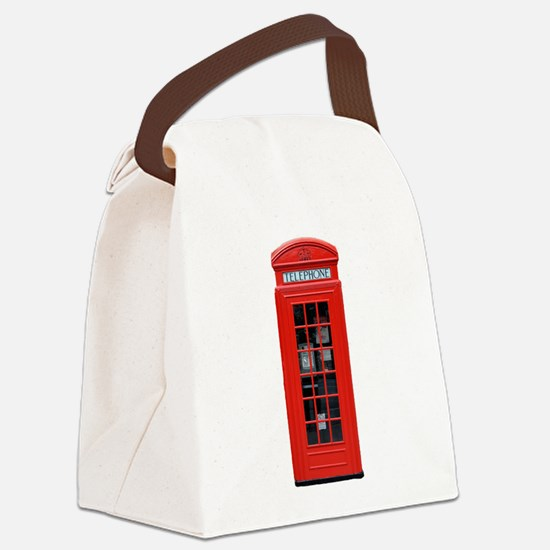 British Phone Box Canvas Lunch Bag