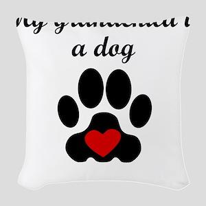 Dog Grandchild Woven Throw Pillow