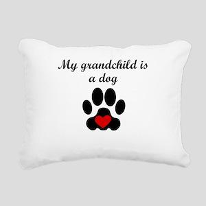 Dog Grandchild Rectangular Canvas Pillow
