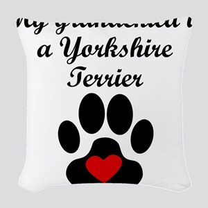 Yorkshire Terrier Grandchild Woven Throw Pillow