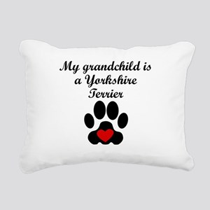 Yorkshire Terrier Grandchild Rectangular Canvas Pi