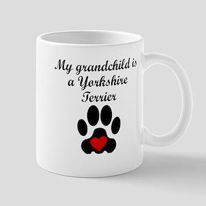 Yorkshire Terrier Grandchild Mugs