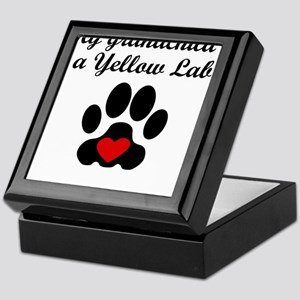 Yellow Lab Grandchild Keepsake Box