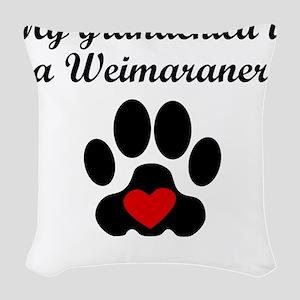 Weimaraner Grandchild Woven Throw Pillow
