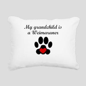 Weimaraner Grandchild Rectangular Canvas Pillow