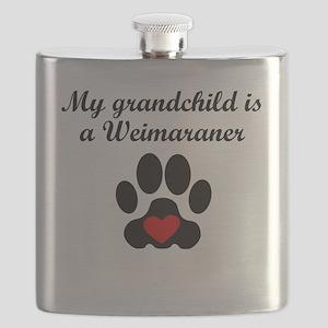 Weimaraner Grandchild Flask