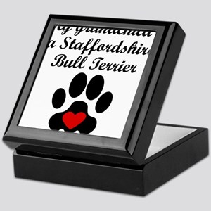 Staffordshire Bull Terrier Grandchild Keepsake Box