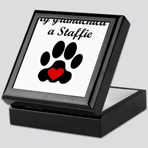 Staffie Grandchild Keepsake Box