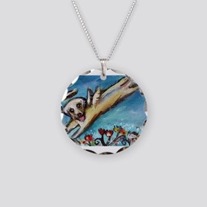 Yellow Labrador angel flys free Necklace