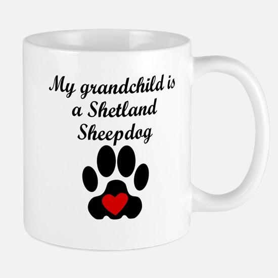 Shetland Sheepdog Grandchild Mugs