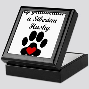 Siberian Husky Grandchild Keepsake Box