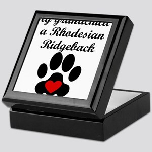 Rhodesian Ridgeback Grandchild Keepsake Box