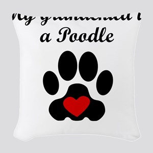 Poodle Grandchild Woven Throw Pillow