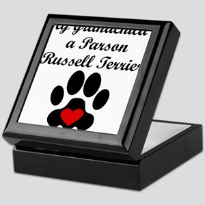Parson Russell Terrier Grandchild Keepsake Box