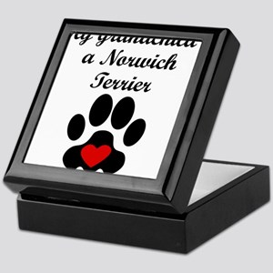 Norwich Terrier Grandchild Keepsake Box