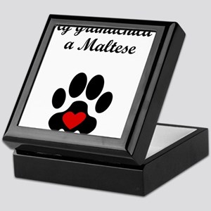 Maltese Grandchild Keepsake Box