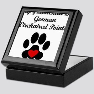 German Wirehaired Pointer Grandchild Keepsake Box