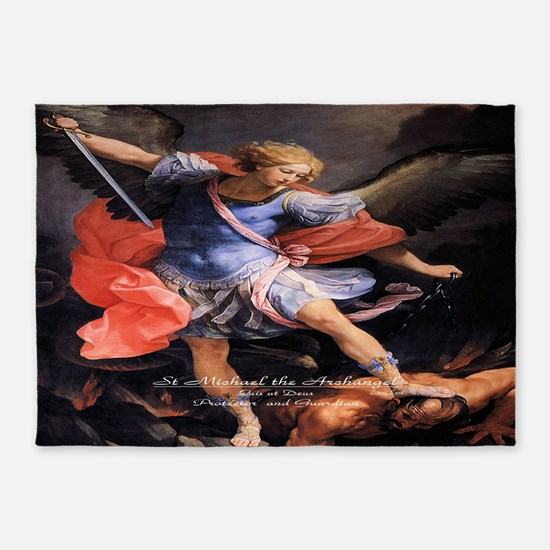 Saint Michael the Archangel Quis ut Deus 5'x7'Area