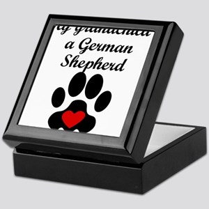 German Shepherd Grandchild Keepsake Box