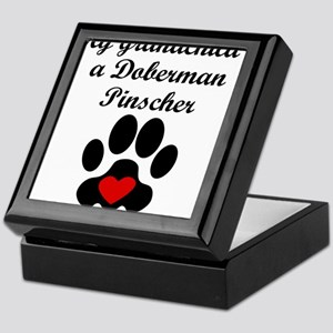 Doberman Pinscher Grandchild Keepsake Box
