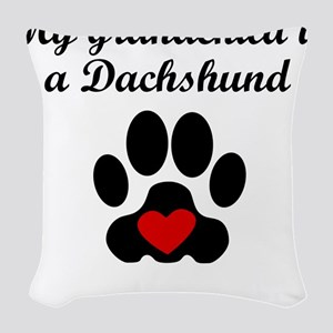 Dachshund Grandchild Woven Throw Pillow
