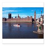London 8 Square Car Magnet 3