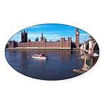 London 8 Sticker (Oval 50 pk)