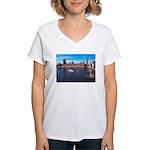 London 8 Women's V-Neck T-Shirt