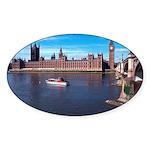 London 8 Sticker (Oval)