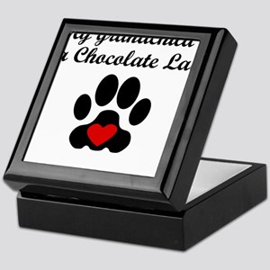 Chocolate Lab Grandchild Keepsake Box