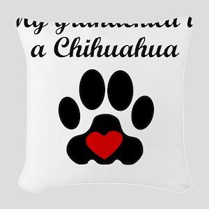 Chihuahua Grandchild Woven Throw Pillow