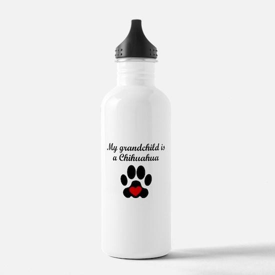 Chihuahua Grandchild Water Bottle
