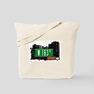 W 183 St, Bronx, NYC Tote Bag