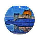 Castle at Christmas Ornament (Round)