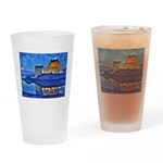 Castle at Christmas Drinking Glass
