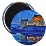Castle at Christmas Magnets