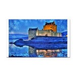 Castle at Christmas Rectangle Car Magnet