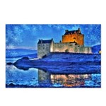 Castle at Christmas Postcards (Package of 8)