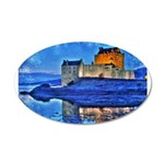 Castle at Christmas Wall Decal