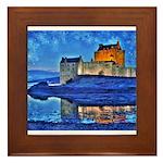 Castle at Christmas Framed Tile