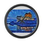 Castle at Christmas Large Wall Clock