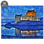 Castle at Christmas Puzzle