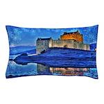 Castle at Christmas Pillow Case