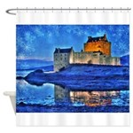 Castle at Christmas Shower Curtain