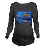 Castle at Christmas Long Sleeve Maternity T-Shirt