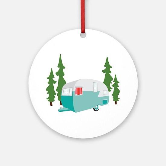 Camper Scene Ornament (Round)